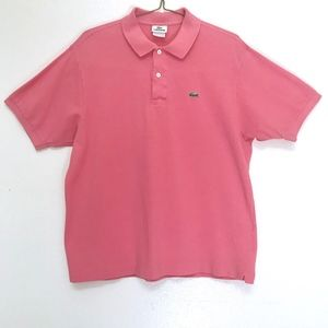 Lacoste Coral Pink Polo Size 6